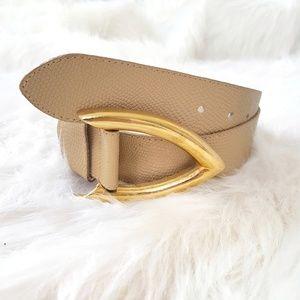 Christian Dior Rare Vintage Logo Leather Belt